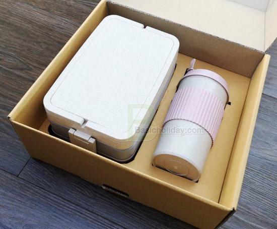 กระบอกน้ำ กล่องใส่อาหาร กล่องเก็บอาหาร แก้วน้ำ ECO แก้วน้ำวัสดุธรรมชาติ ของขวัญ ของแจก สกรีนโลโก้