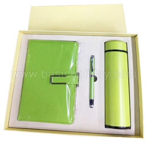 ชุดกิฟต์เซ็ทกระติกน้ำพร้อมสมุดโน้ต ชุดเซ็ทของขวัญ Box set ชุดเซ็ทของขวัญ พร้อมปากกา ของแจกลูกค้า แจกพนักงาน