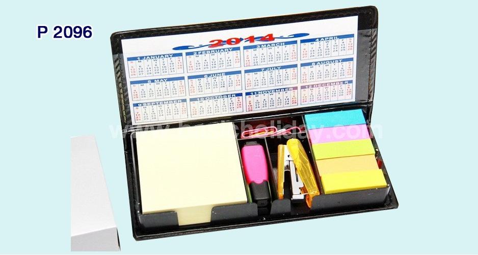 กล่องกระดาษโน้ตสี+เย็บกระดาษ+เน้นข้อความ