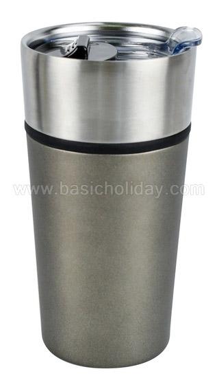 แก้วสแตนเลส กระบอกน้ำสแตนเลส พรีเมี่ยม แก้วน้ำสแตนเลสเก็บความเย็น แก้วกาแฟ สกรีนโลโก้ฟรี ของแจกลูกค้า