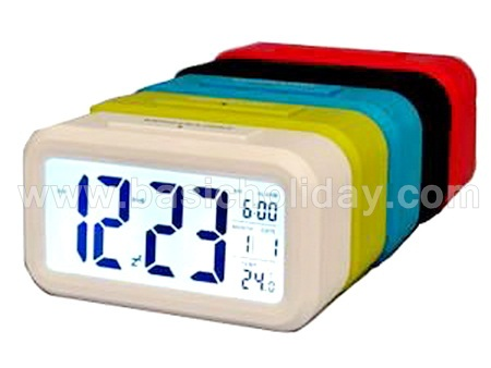 นาฬิกาดิจิตอล Digital Clock พรีเมี่ยม นาฬิกาดิจิตอลตั้งโต๊ะ นาฬิกาดิจิตอล ใส่โลโก้ สกรีน ของแจก