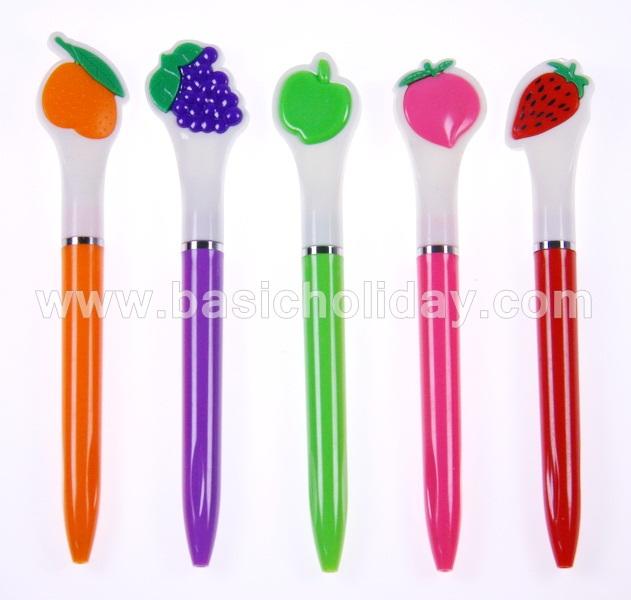 ปากกาผลไม้ ปากกาแจกลูกค้า ปากกาพรีเมี่ยมแจกลูกค้า ปากกาสกรีนโลโก้ ของขวัญ ของชำร่วย ของที่ระลึก เบสิกฮอลิเดย์