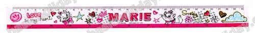 M 2067 ไม้บรรทัดพีพี พิมพ์สกรีน 2 ด้าน MARIE