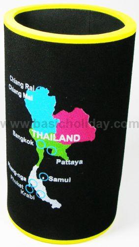 M 3202 ยางหุ้มกระป๋องเบียร์-แผนที่ประเทศไทยแลนด์ ถ้วยยางเก็บความเย็น แก้วยางเก็บความเย็น ถ้วยโฟมสวมขวดเบียร์เก็บความเย็น
