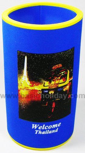 M 3204 ยางหุ้มกระป๋องเบียร์-รถตุ๊กๆ ถ้วยยางเก็บความเย็น แก้วยางเก็บความเย็น ถ้วยโฟมสวมขวดเบียร์เก็บความเย็น
