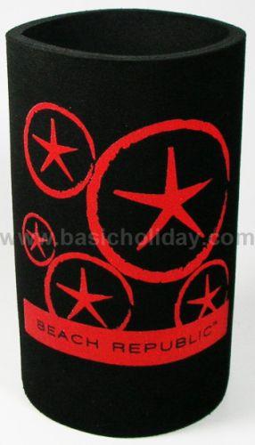 M 3206 ยางหุ้มกระป๋องเบียร์-Beach Republic ถ้วยยางเก็บความเย็น แก้วยางเก็บความเย็น ถ้วยโฟมสวมขวดเบียร์เก็บความเย็น