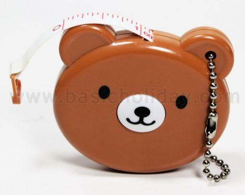 P1591  พวงกุญแจตลับเมตรหน้าหมี (ยาว 1.50 เมตร)