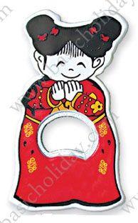 114-PQ-01 ที่เปิดขวดติดตู้เย็น-ตุ๊กตาจีนหญิง