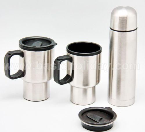 P 2231  ชุด Giftset  กระติกน้ำแสตนเลสและถ้วย 2 ใบ ของพรีเมี่ยม สินค้าพรีเมียม ของที่ระลึก ของชำร่วย ของแจก ของแถม สั่งทำ สั่งผลิต
