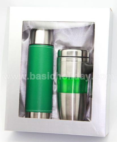 P 2235  ชุด Giftset  กระติกน้ำและถ้วยน้ำแสตนเลส ของพรีเมี่ยม สินค้าพรีเมียม ของที่ระลึก ของชำร่วย ของแจก ของแถม สั่งทำ สั่งผลิต