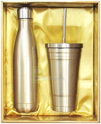 ชุด Gift Set กระติกน้ำสูญญากาศ ชุด Giftset กระติกน้ำและถ้วยน้ำสแตนเลส ชุดกระติกน้ำ (Gift Set)