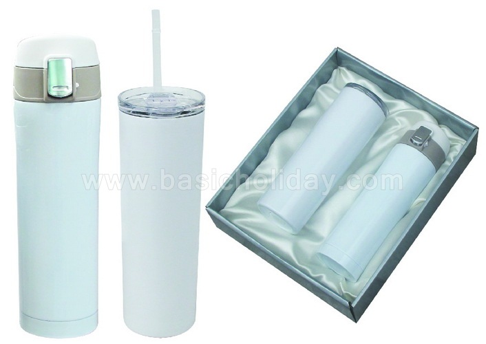 ชุดกิ๊ฟเซ็ทกระติกน้ำ ชุดกิ๊ฟเซ็ทแก้วน้ำ Gift Set แก้ว กระบอกน้ำ กระติกน้ำร้อน บรรจุกล่องของขวัญ ฟรีสกรีน