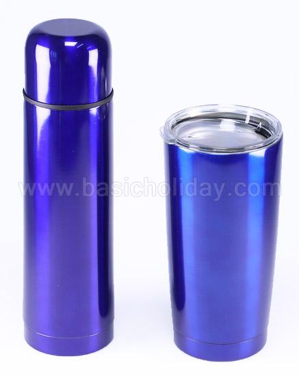 กระติกน้ำ แก้วสองใบ สินค้าที่ระลึก สินค้าส่งเสริมการขาย พรีเมียม ของขวัญ สกรีน กระติกน้ำพร้อมแก้ว