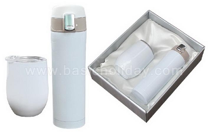 ชุดกิ๊ฟเซ็ทกระติกน้ำ ชุดแก้วน้ำ Gift Set แก้ว กระบอกน้ำ กระติกน้ำร้อน บรรจุกล่องของขวัญ ฟรีสกรีน