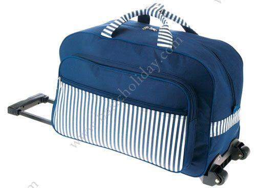 M 2268 กระเป๋าล้อลากทรงนอน 600D สลับผ้าฟองน้ำ