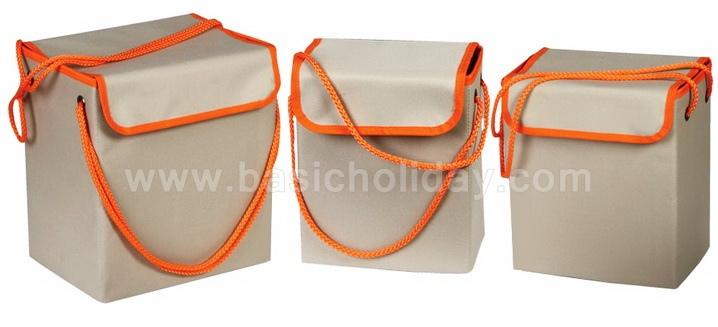 กล่องผ้า พับได้ กล่องผ้าเอนกประสงค์ พรีเมี่ยม แบบสั่งผลิต ตามออร์เดอร์ สกรีนโลโก้ กล่องผ้าพับได้