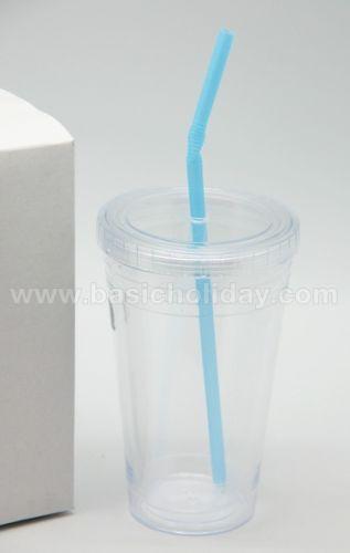 แก้วน้ำพลาสติกใส แบบสตาร์บัคพร้อมหลอด รับผลิตและนำเข้า ของพรีเมี่ยม souvenir สินค้าพรีเมียม ของที่ระลึก ของชำร่วย ของแจก ของแถม สั่งทำ สั่งผลิต