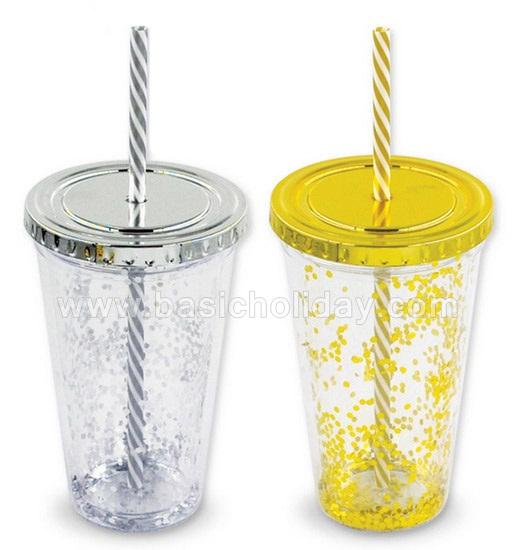 แก้วน้ำพลาสติก แก้วน้ำพร้อมหลอด จำหน่ายพรีเมี่ยม สกรีนโลโก้ ของที่ระลึก ของพรีเมี่ยม ทำของแจก