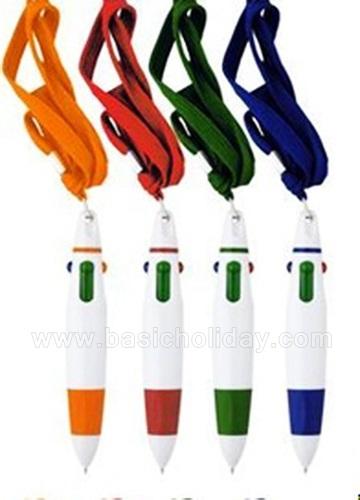 ปากกาคล้องคอ ปากกาลูกลื่น ปากกาแจก ปากกาที่ระลึก ทำปากกาแจก ของขวัญ ปากกาหมึหลายสี สกรีนฟรี