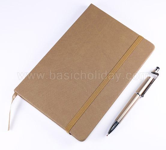 สมุดรีไซเคิล สกรีนโลโก้ กระดาษและสมุดโน๊ต ของที่ระลึก พร้อมปากกา ของแจก ของพรีเมี่ยม ของขวัญปีใหม่