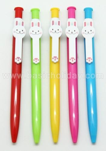 ปากกาพลาสติก ปากกาโลหะ ปากกานำเข้า ปากกาสกรีนโลโก้ ปากกาน่ารัก ปากกาคลิปหนีบกระต่าย