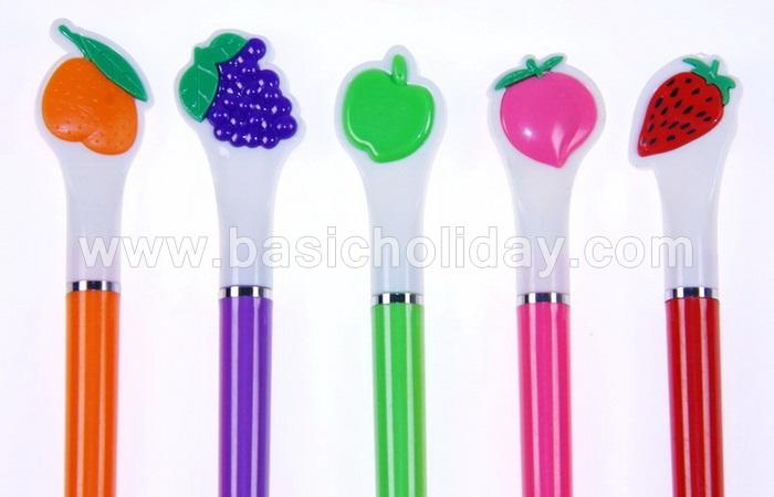 ปากกาผลไม้ ปากกาแจกลูกค้า ปากกาพรีเมี่ยมแจกลูกค้า ปากกาโลหะแจก เบสิกฮอลิเดย์ รับผลิต ของพรีเมี่ยม ของแจก