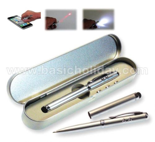 ปากกาเลเซอร์ 4 in 1 รวม กล่องโลหะ ปากกาพลาสติก ปากกาโลหะ ปากกานำเข้า ปากกาสกรีนโลโก้ ปากกาพรีเมี่ยม ปากกาเลเซอร์