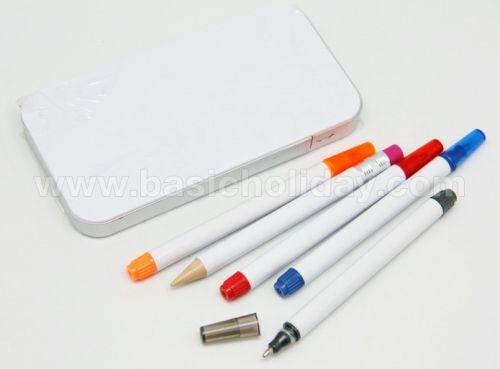 ชุดปากกา+ดินสอ+เน้นข้อความ 5 ชิ้น ของที่ระลึก ของชำร่วย ของแจก ของแถม สั่งทำ สั่งผลิต
