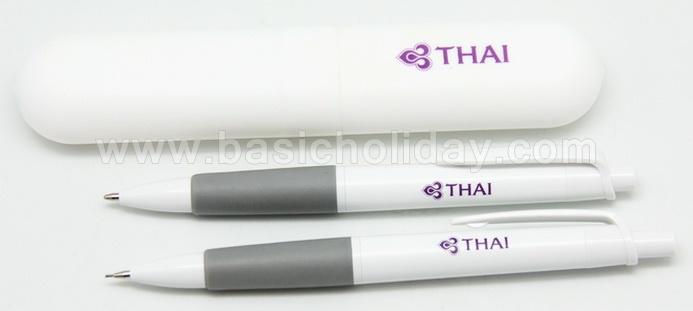 ปากกาดินสอในกล่อง ชุดปากกาในหลอดพลาสติก สกรีนโลโก้ ทำของแจก ของชำร่วย ของขวัญ