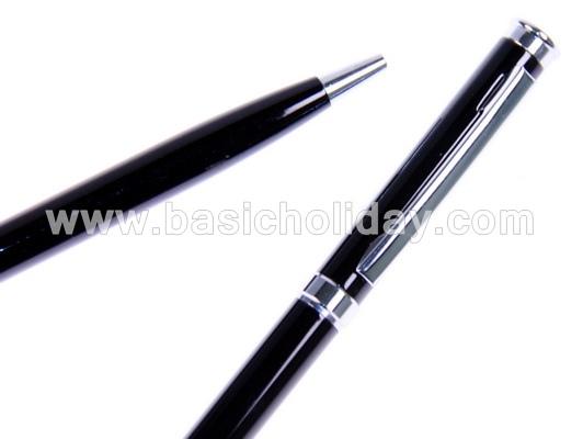 ปากกาโลหะ ปากกานำเข้า ปากกาสกรีนโลโก้ ปากกาพรีเมี่ยม ปากกาแจก ปากกาที่ระลึก ปากกาโลหะสีดำ