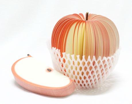 apple แอปเปิ้ล กระดาษโน้ตรูปผลไม้ กระดาษโน้ต กระดาษบันทึก MEMMO กระดาษ