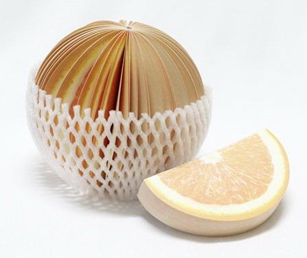 P1885-4 กระดาษโน้ตรูปผลไม้ กระดาษโน้ต กระดาษบันทึก MEMMO กระดาษ ส้ม