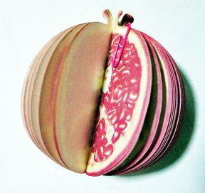 P1888-1 กระดาษโน้ตรูปผลไม้-ทับทิม กระดาษโน้ตรูปผลไม้ กระดาษโน้ต กระดาษบันทึก MEMMO กระดาษ