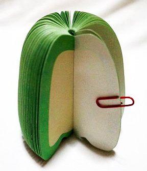 P1890-1 กระดาษโน้ตรูปผลไม้-พริกหยวก กระดาษโน้ตรูปผลไม้ กระดาษโน้ต กระดาษบันทึก MEMMO กระดาษ