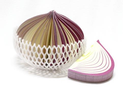 P1893-4 กระดาษโน้ตรูปผลไม้-หัวหอม กระดาษโน้ตรูปผลไม้ กระดาษโน้ต กระดาษบันทึก MEMMO กระดาษ