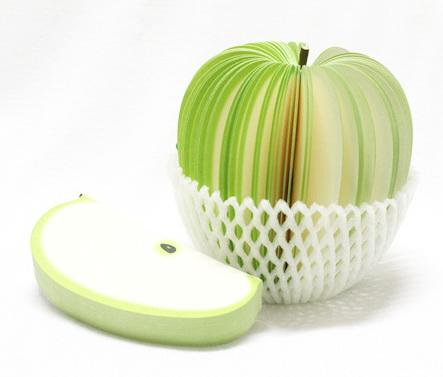 P1894-3 กระดาษโน้ตรูปผลไม้-แอปเปิ้ลเขียว กระดาษโน้ตรูปผลไม้ กระดาษโน้ต กระดาษบันทึก MEMMO กระดาษ