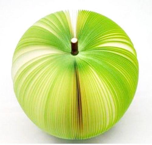 P1894-1 กระดาษโน้ตรูปผลไม้-แอปเปิ้ลเขียว กระดาษโน้ตรูปผลไม้ กระดาษโน้ต กระดาษบันทึก MEMMO กระดาษ