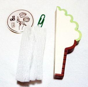P1895-3 กระดาษโน้ตรูปไอศครีม-ชาเขียว กระดาษโน้ตรูปผลไม้ กระดาษโน้ต กระดาษบันทึก MEMMO กระดาษ