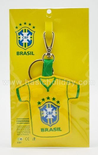 ตัวอย่างพวงกุญแจเสื้อทีมฟุตบอลงานหนังแก้วปัก-Brasil พวงกุญแจหนังแก้วปักลาย พวงกุญแจหนังเทียม พวงกุญแจ ของพรีเมี่ยม souvenir สินค้าพรีเมียม ของที่ระลึก