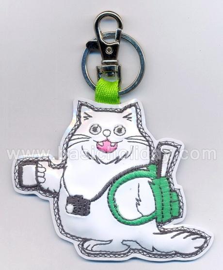 พวงกุญแจหนังแก้วปักลาย พวงกุญแจหนังเทียม พวงกุญแจ ของพรีเมี่ยม souvenir สินค้าพรีเมียม ของที่ระลึก