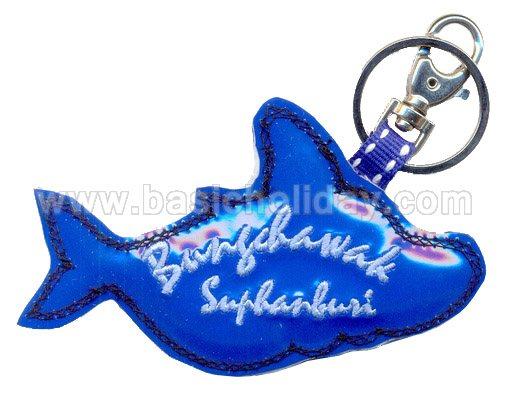 พวงกุญแจหนังแก้วปักลาย พวงกุญแจหนังเทียม พวงกุญแจ ของที่ระลึก ของแจก ของขวัญ ของพรีเมี่ยม