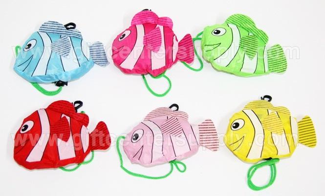 ถุงผ้าพับได้ ปลาการ์ตูน ถุงผ้าลดโลกร้อน สินค้าที่ระลึก ของที่ระลึก ของขวัญ ของชำร่วย ถุงผ้างานด่วน