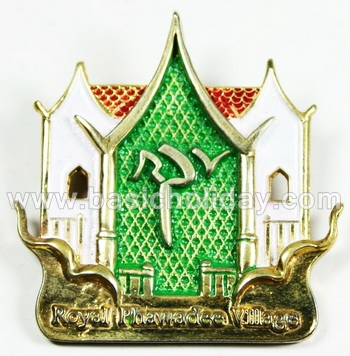 เข็มกลัดโลหะลงสี-Royal phanvadee village