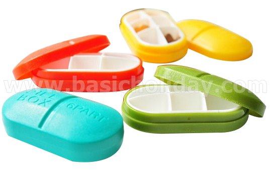 กล่องใส่ยาเม็ดรูปยา 6 ช่อง พร้อมกล่อง