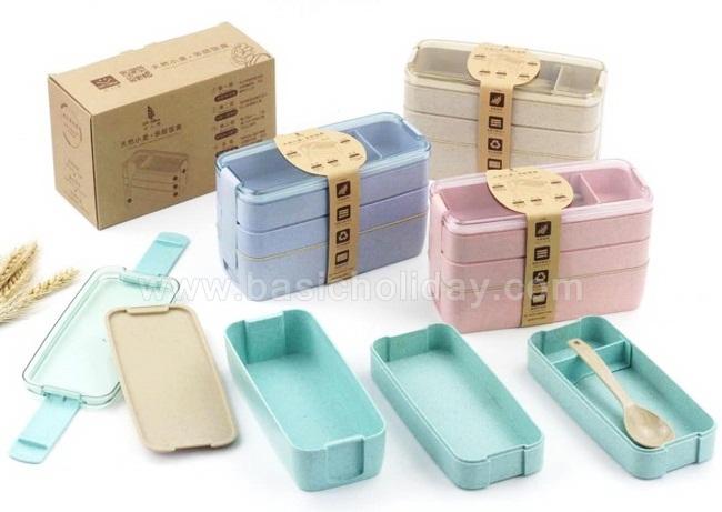 ชุดกล่องข้าว 3 ชั้นพร้อมช้อน Lunch Box