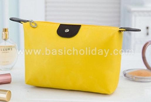 กระเป๋าเครื่องสำอางค์ กันน้ำ กระเป๋าเดินทาง กระเป๋าแต่งหน้า กระเป๋าอเนกประสงค์ นำเข้ากระเป๋าเกรดพรีเมี่ยม กระเป๋าใส่อุปกรณ์ สีเหลือง