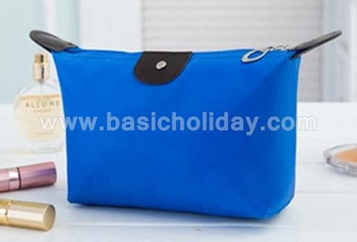 กระเป๋าเครื่องสำอางค์ กันน้ำ กระเป๋าเดินทาง กระเป๋าแต่งหน้า กระเป๋าอเนกประสงค์ นำเข้ากระเป๋าเกรดพรีเมี่ยม กระเป๋าใส่อุปกรณ์ สีน้ำเงิน
