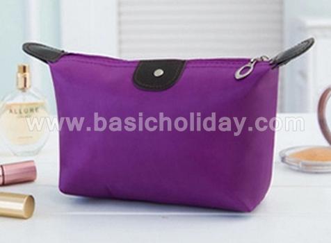 กระเป๋าเครื่องสำอางค์ กันน้ำ กระเป๋าเดินทาง กระเป๋าแต่งหน้า กระเป๋าอเนกประสงค์ นำเข้ากระเป๋าเกรดพรีเมี่ยม กระเป๋าใส่อุปกรณ์ สีม่วง
