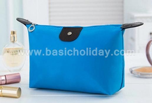 กระเป๋าเครื่องสำอางค์ กันน้ำ กระเป๋าเดินทาง กระเป๋าแต่งหน้า กระเป๋าอเนกประสงค์ นำเข้ากระเป๋าเกรดพรีเมี่ยม กระเป๋าใส่อุปกรณ์ สีฟ้า
