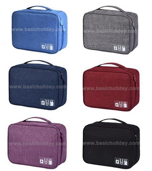 กระเป๋าอเนกประสงค์ กระเป๋าจัดระเบียบ กระเป๋าใส่ของจุกจิก กระเป๋าพับได้ กระเป๋าของ bag in bag